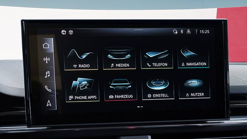 MMI-display in de Audi A4 allroad quattro
