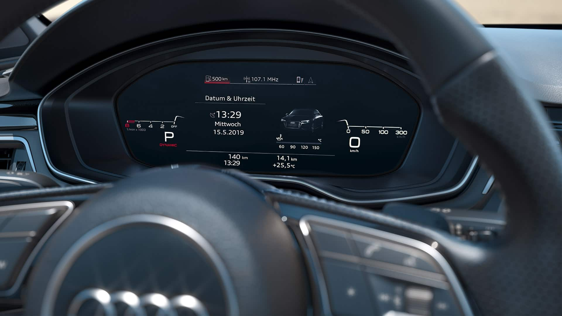 Audi virtual cockpit van de Audi S4 Berline