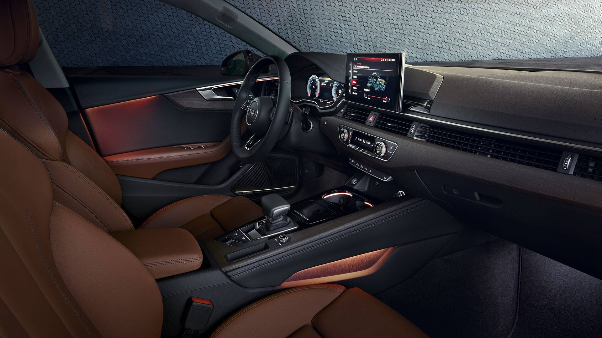 Interior design in the Audi A5 Coupé