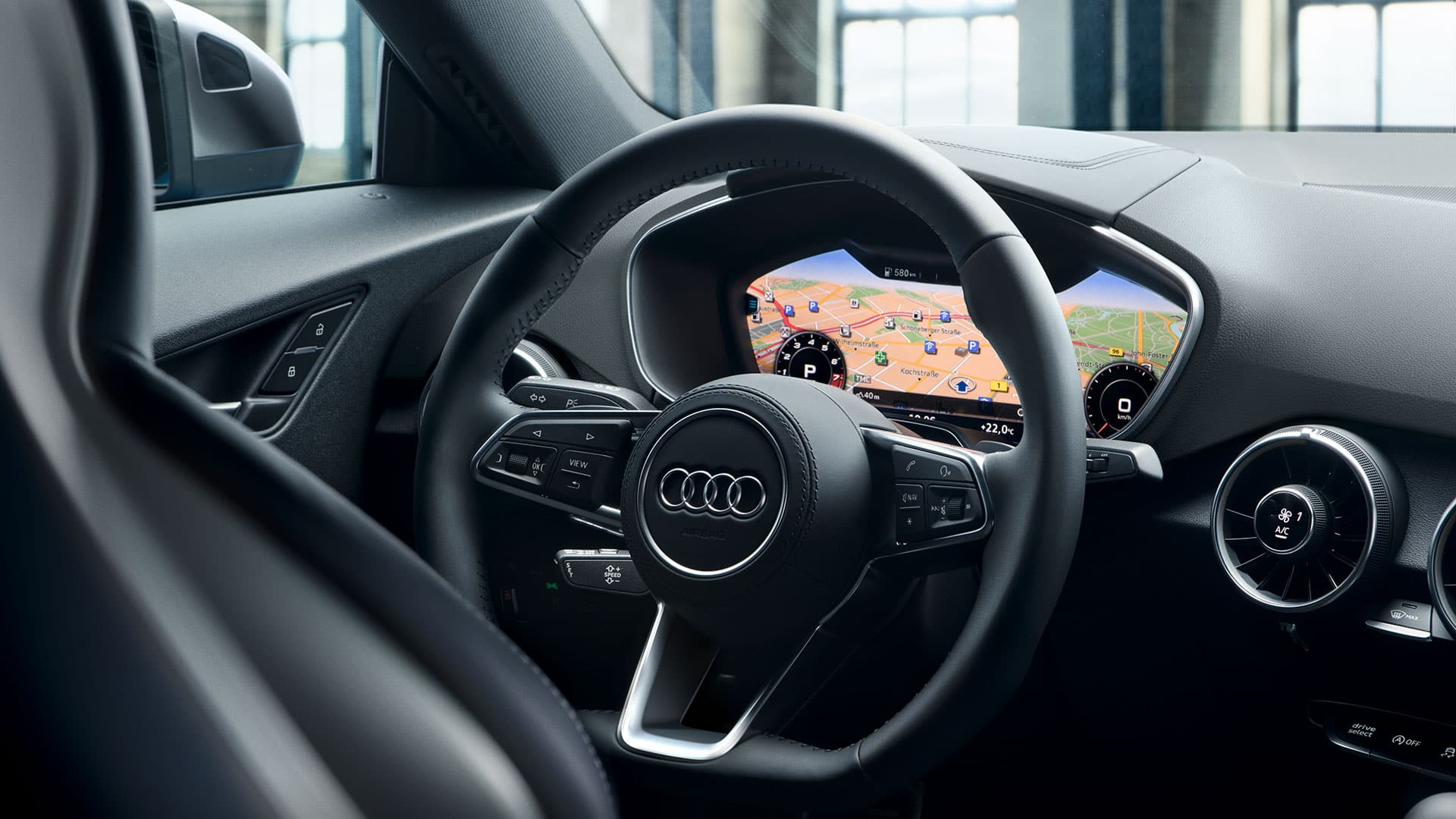 Audi virtual cockpit in the TT Roadster